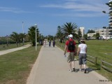 Walkways and fitness trail along the beach