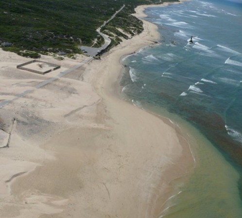Aerial view of cape receife